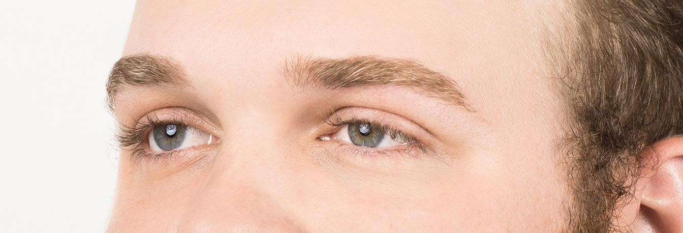 Men's Eyelash Grooming - After photo