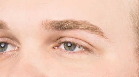 men's eyebrow- grooomed