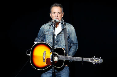 Bruce Springsteen performs on stage