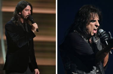 Dave Grohl and Alice Cooper