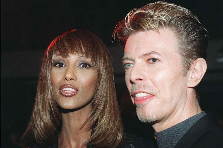 File photo dated 07/11/95 of David Bowie and his wife Iman. The star wanted his ashes to be scattered in a Buddhist ritual in Bali, according to his will