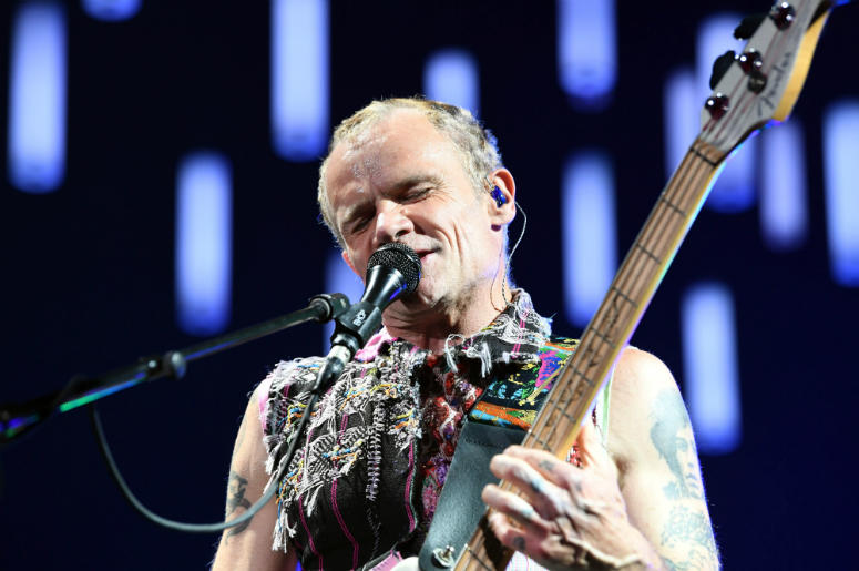Flea of Red Hot Chili Peppers performs at American Airlines Arena