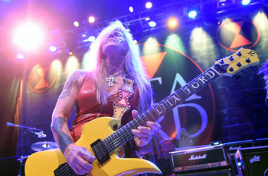 Lita Ford performs at Brooklyn Bowl Las Vegas at The LINQ Promenade on March 6, 2016