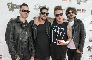 Jerry Horton, Tobin Esperance, Jacoby Shaddix and Tony Palermo of the band Papa Roach attend the Alternative Press Music Awards 2016 held at Jerome Schottenstein Center.