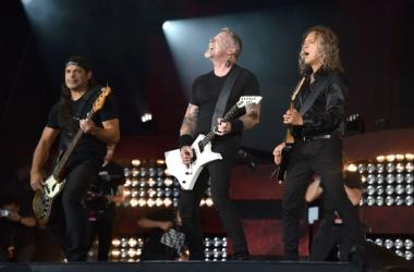 Metallica perform onstage