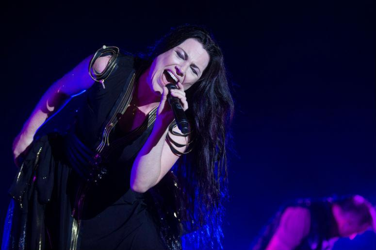 Singer Amy Lee of Evanescence during performance at festival Rock for People in Hradec Kralove, Czech republic, July 6, 2017.