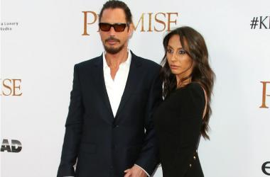 Musician Musician Chris Cornell (L) and Vicky Karayiannis at the Premiere Of Open Road Films' 'The Promise' held at TLC Chinese Theatre on April 12, 2017 in Los Angeles