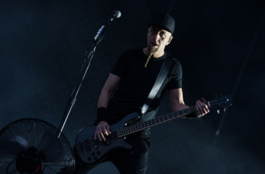 Shavo Odadjian of System of a Down performing live on stage on day 1 of Download Festival at Donington Park