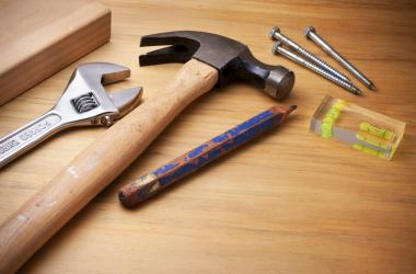 Tools on a wooden table