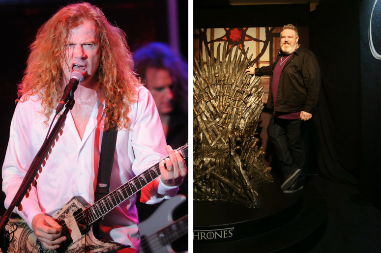 Dave Mustaine and Kristian Nairn