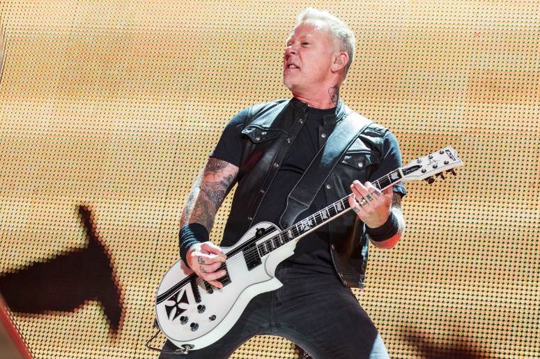 James Hetfield of Metallica during WorldWired Tour
