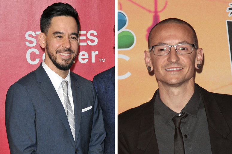 Linkin Park's Mike Shinoda and Chester Bennington