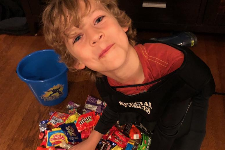 Dawson and his candy