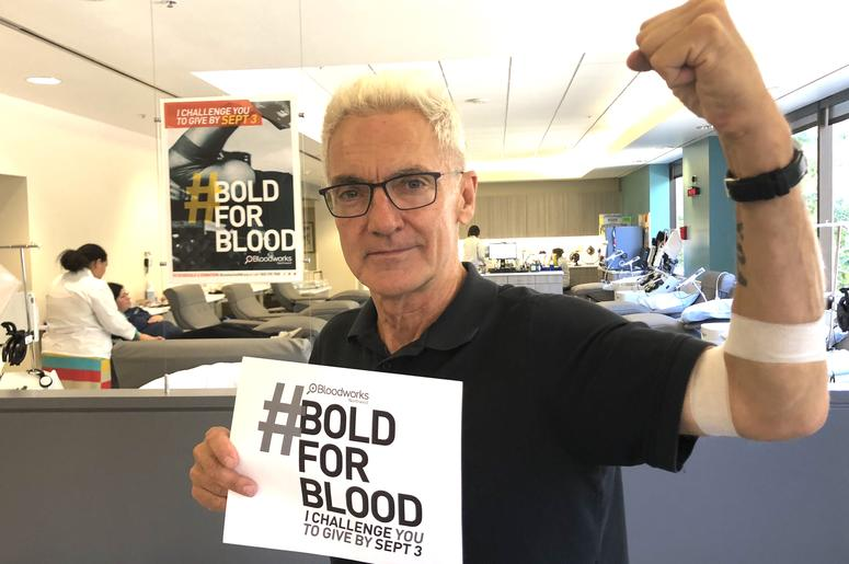 John gave blood!
