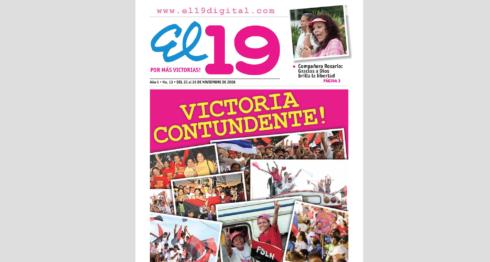 EL 19, el periódico semanal con propaganda del FSLN fue un total fracaso y se quedó solo en versión web. LA PRENSA/ Tomada de El 19