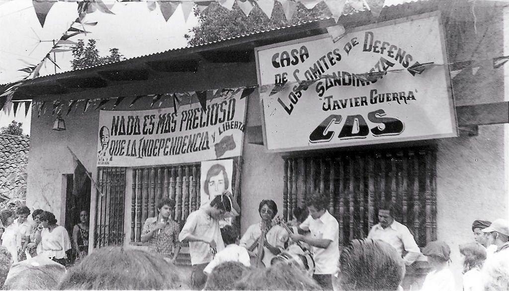 Casa de los Comité de Defensa Sandinista (CDS) en el barrio Javier Guerra. 19 de octubre de 1979. LA PRENSA/ARCHIVO