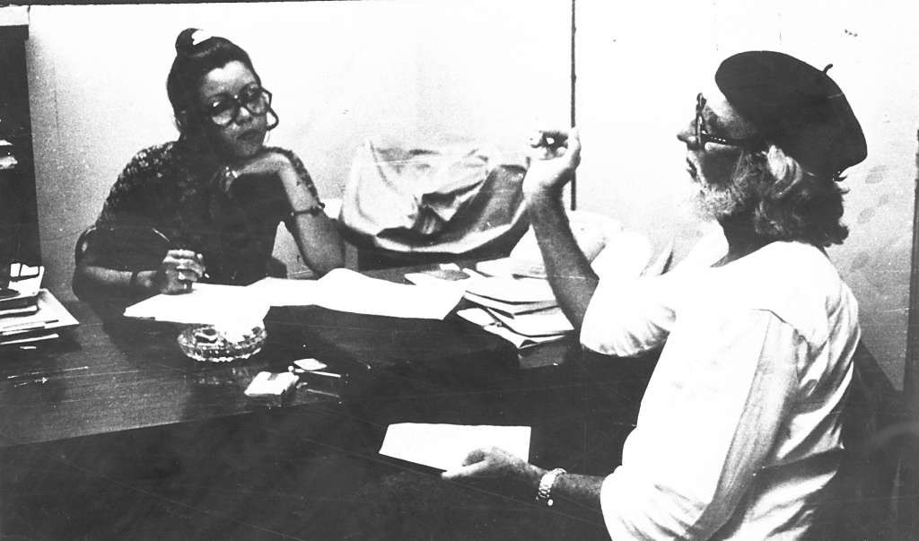 Rosario Murillo junto a Ernesto Cardenal cuando ella trabajó en el diario LA PRENSA. LA PRENSA/ Archivo