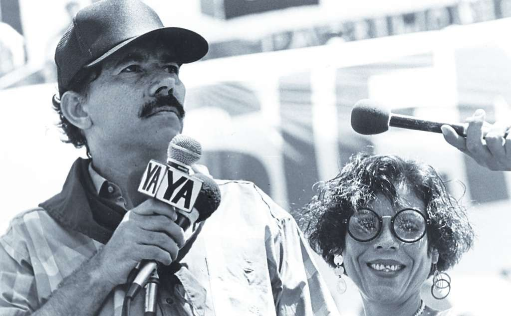 Daniel Ortega y Rosario Murillo en 1995. LA PRENSA/Archivo.
