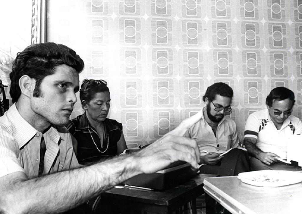 Silvio Peña Rivas, involucrado en el asesinato de Pedro Joaquín Chamorro Cardenal, declarando en un juicio en 1978. LA PRENSA/ ARCHIVO