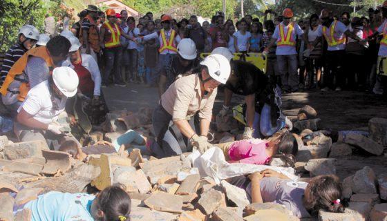 simulacro, León, sismos