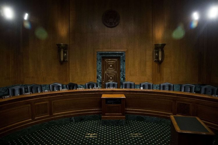 Los demócratas boicotearan la audiencia del Comité de Finanzas del Senado en la que se consideraron las nominaciones para el departamento del Tesoro y Salud y Servicios Humanos. LAPRENSA/AFP