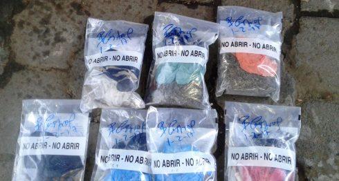 Parte de la droga incautada a uno de los detenidos, identificado como Fandor Mauricio Morales Paredes. LA PRENSA/Saúl Martínez