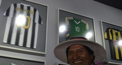 Evo Morales en el Museo de la Revolución Democrática y Cultural durante su inauguración en Orinoca, departamento de Oruro, Bolivia. LA PRENSA/AFP