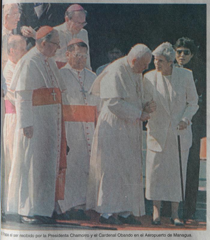 Papa Juan Pablo II, Juan Pablo II, Papa en Nicaragua,