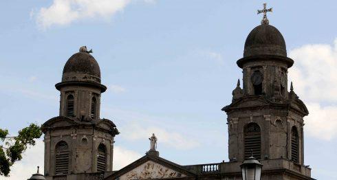 Antigua catedral de Managua.