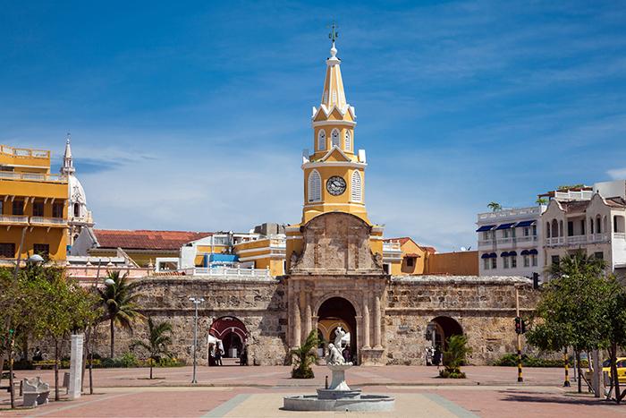 Torre del Reloj de Cartagena de Indias, Colombia. LAPRENSA / Thinkstockphotos
