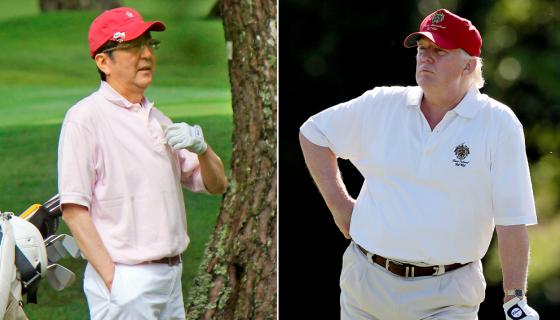 Izquierda: Shinzo Abe, primer ministro de Japón. Derecho: Donald Trump, presidente de Estados Unidos. LA PRENSA / AP Photo.