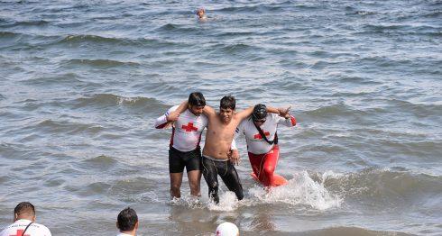 Guardavidas de Managua intensifican su entrenamiento previo al Plan Playa 2017 que daría inicio un fin de semana antes de Semana Santa. Foto La Prensa/ C. Valle.