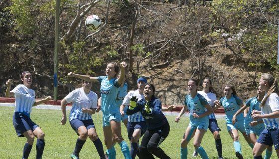 El Colegio Americano Nicaragüense empató sin goles ante International School de Panamá en femenino. LA PRENSA/Uriel Molina
