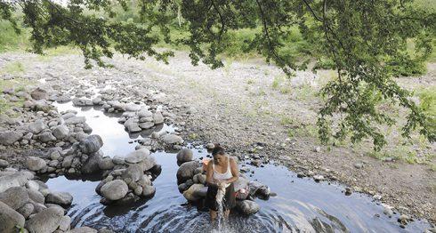 Varios ríos que antes abastecían a las comunidades rurales de occidente y del Corredor Seco han perdido hasta el noventa por ciento de su caudal debido al impacto de la sequía. LA PRENSA/O. NAVARRETE