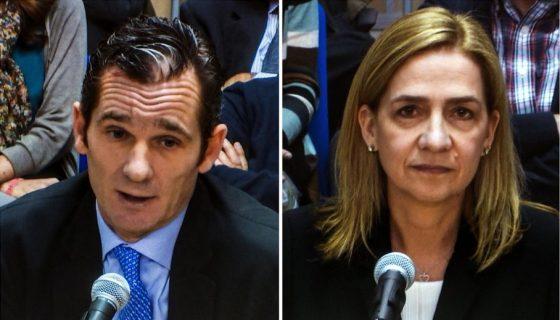 Fotografías de archivo de la Infanta Cristina y su esposo Iñaki Urdangarin, durante el juicio del caso Nóos. EFE