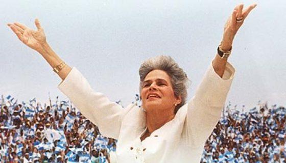 Violeta Barrios, Elecciones 1990,