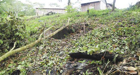 El sitio donde fue quemada Vilma Trujillo está cerca de la iglesia Visión Celestial. LA PRENSA/J. GARTH