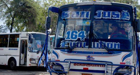 conductores de buses, Managua, buseros Managua, conductores Nicaragua