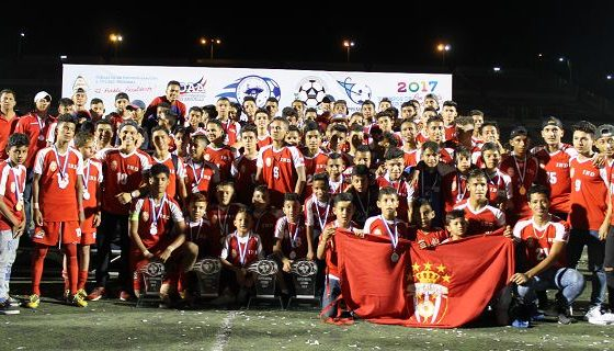 Los miembros del Real Estelí Sub-13, Sub-15, Sub-17 y Sub-19 tras la Final. LAPRENSA/ CORTESÍA / REALESTELÍ