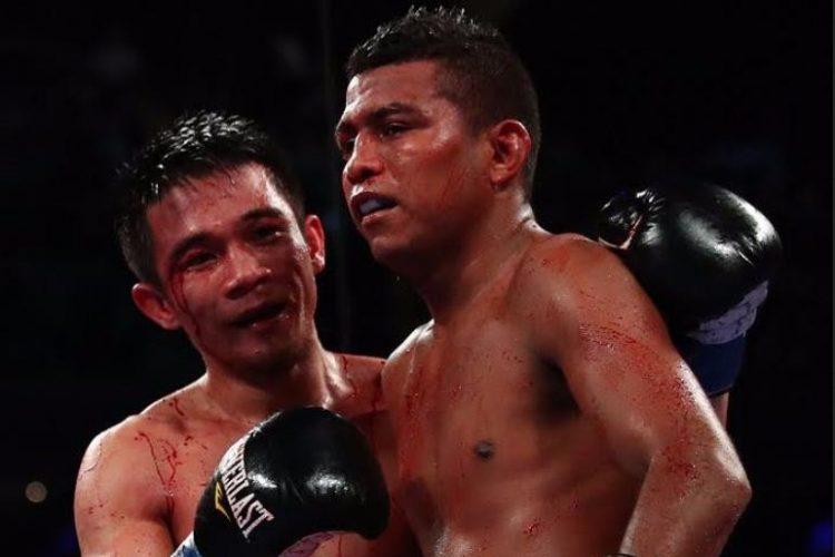 """Román """"Chocolatito"""" González y Srisaket protagonizaron la mejor pelea, en lo que va del año. Foto: LA PRENSA/ AFP"""