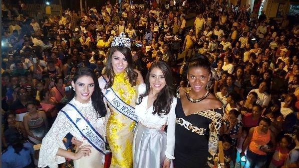 Berenice Quezada Crowned Miss Nicaragua 2017: Gran Recibimiento A Miss Nicaragua En El Rama
