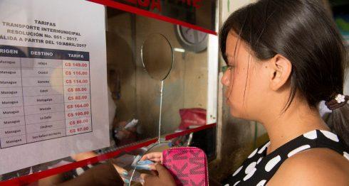 tarifa de transporte, Nicaragua