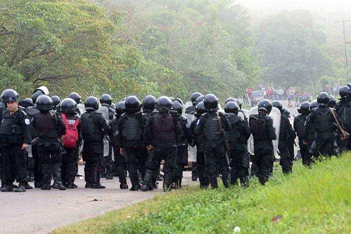 marcha anticanal, protesta campesina, Nueva Guinea