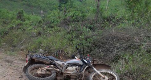 Asi quedó la moto en que viajaba el hijo de Francisca Ramirez