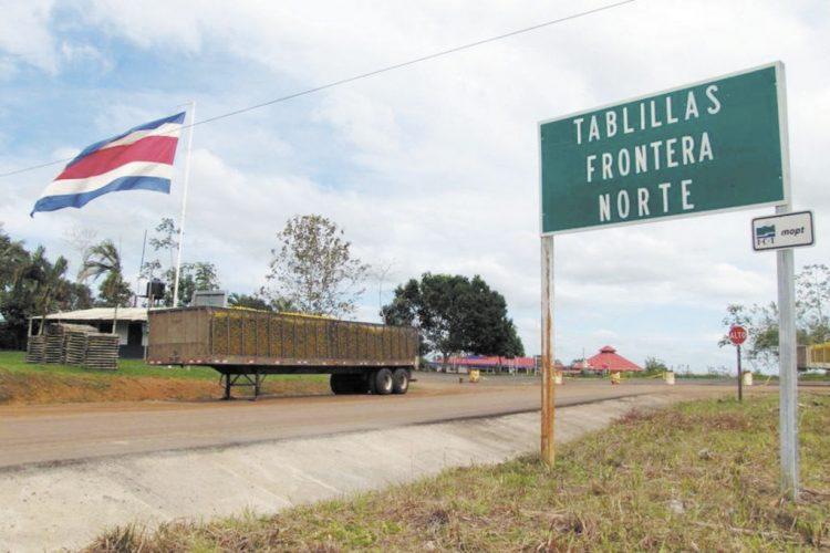 Tablillas, frontera, Costa Rica, Nicaragua