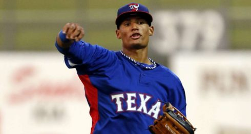 Jairo Beras juega en Ligas Menores para la organización de los Rangers de Texas. LA PRENSA/ARCHIVO