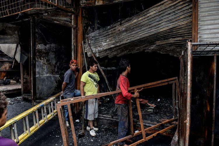 incendio en el mercado Oriental