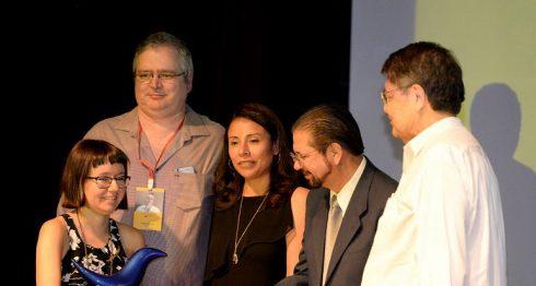 Andrea Morales, ganadora del V Certamen de Cuento Breve Centroamericano Carátula. LAPRENSA/CARLOS VALLE