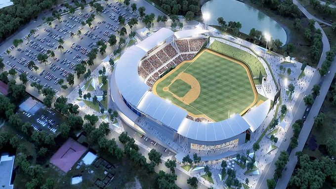 Maqueta del nuevo Estadio Nacional de Beisbol Denis Martínez, que será inaugurado en octubre. LA PRENSA/ARCHIVO