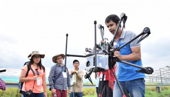 A pesar que el uso de drones está prohibido, empresas de comunicación ligadas al gobierno los usan para grabaciones comerciales y partidarias. LA PRENSA/ ARCHIVO